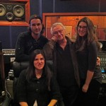 Producer Vinnie Castaldo with Tommy Devito and the Messina sisters
