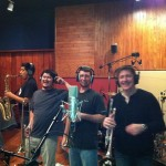Louis Prima Jr. and his brass section