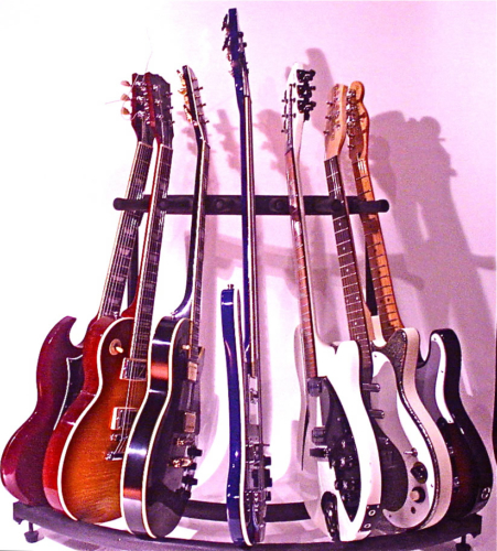Various Guitars and Basses