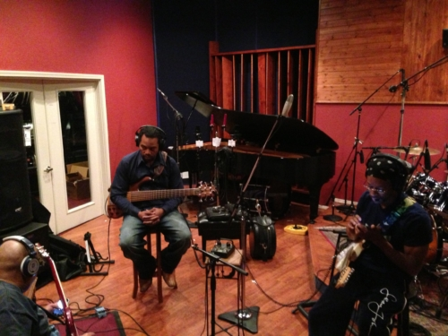 The Ojays cutting live in studio A