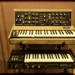 Mini Moog D and Mini Korg