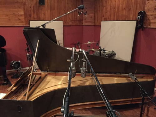 Harpsichord session mic'd