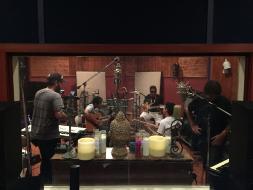 Tito Jackson and 3T jamming in Studio A